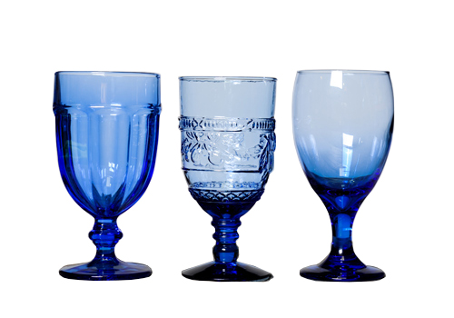 Light Cobalt Blue Goblets