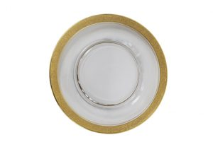 Salad Plate - Mixed Crystal Gold Rim Plate