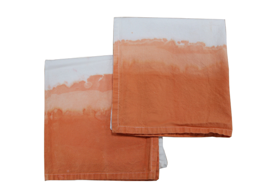 Orange Dip Dye Napkin