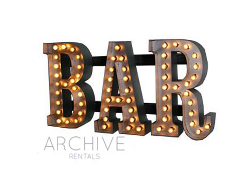 Marquee 'Bar' Sign