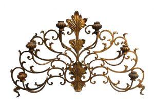 Brass Wall Candelabra