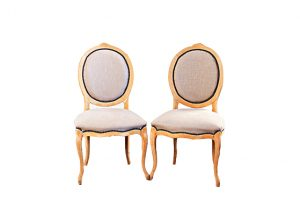 French Linen Louis Chair