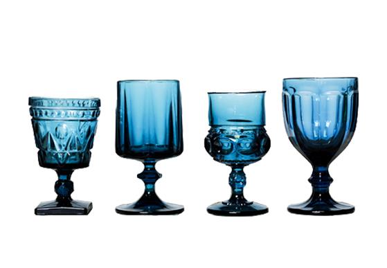Teal Blue Goblets