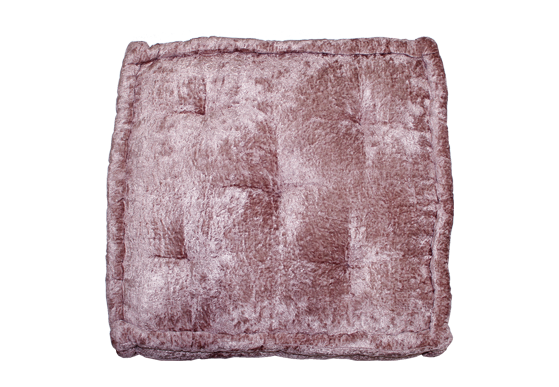 Louie Floor Cushion – Mauve Velvet