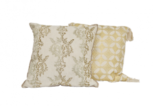 Metallic White and Gold Pillows