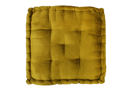 Louie Floor Cushion – Mustard Velvet
