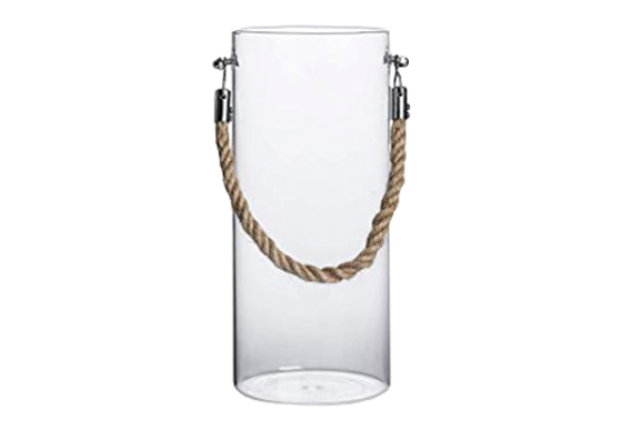 Clear Jar with Rope Handles