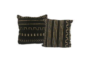 Mud Cloth Pillows - Black & White