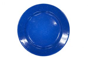 Dinner Plate – Enamelware Plate – Dark Blue