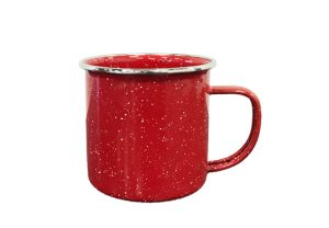 Enamelware Coffee Cup - Red
