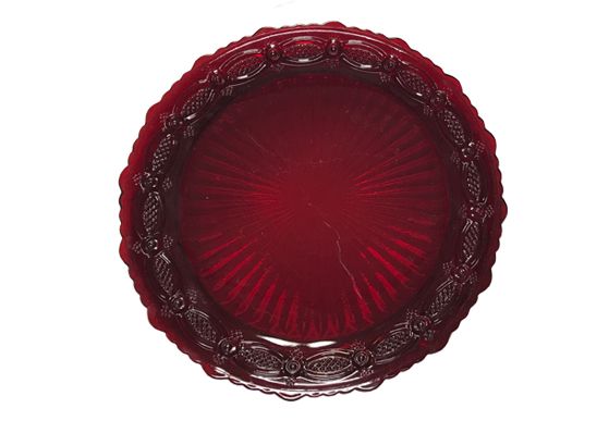 Dinner Plate - Cranberry Plate