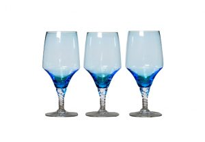 Light Aqua Blue Goblets